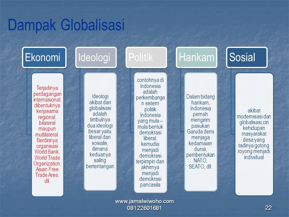 Dampak Globalisasi Ekonomi Ideologi Politik