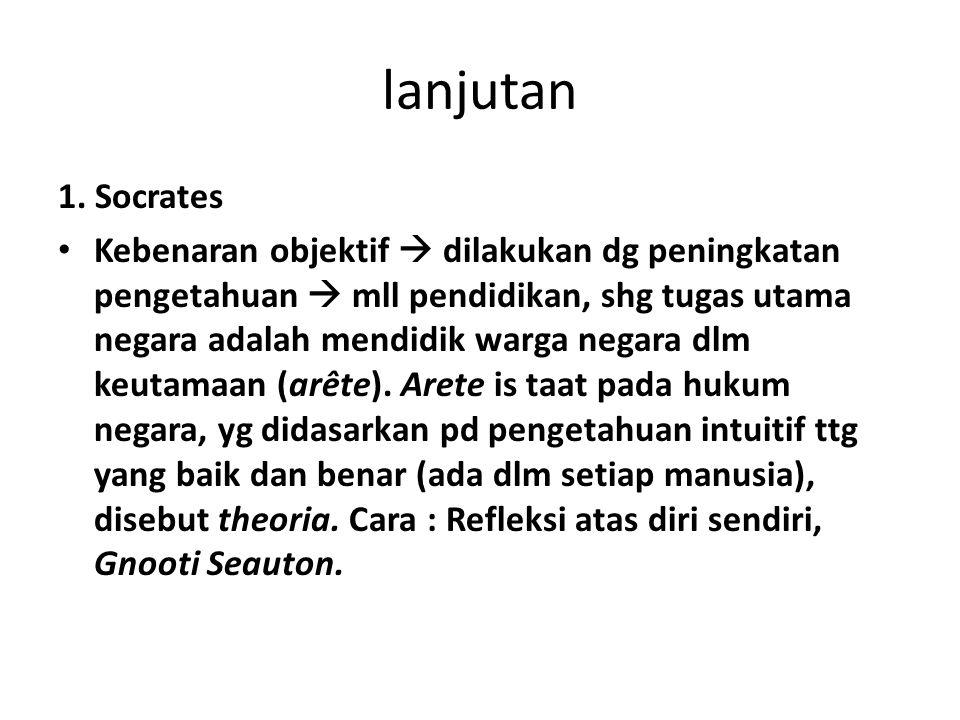 lanjutan 1. Socrates.