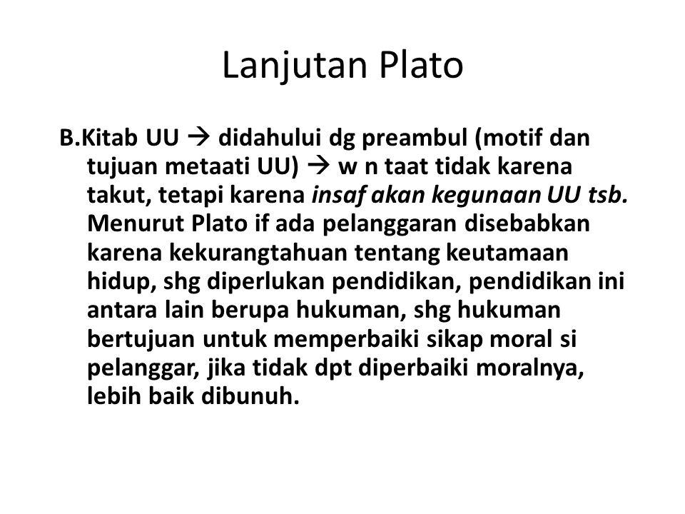 Lanjutan Plato
