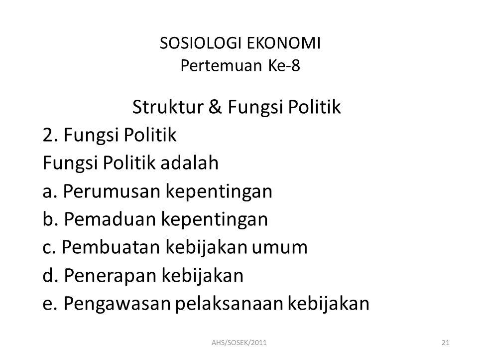 SOSIOLOGI EKONOMI Pertemuan Ke-8
