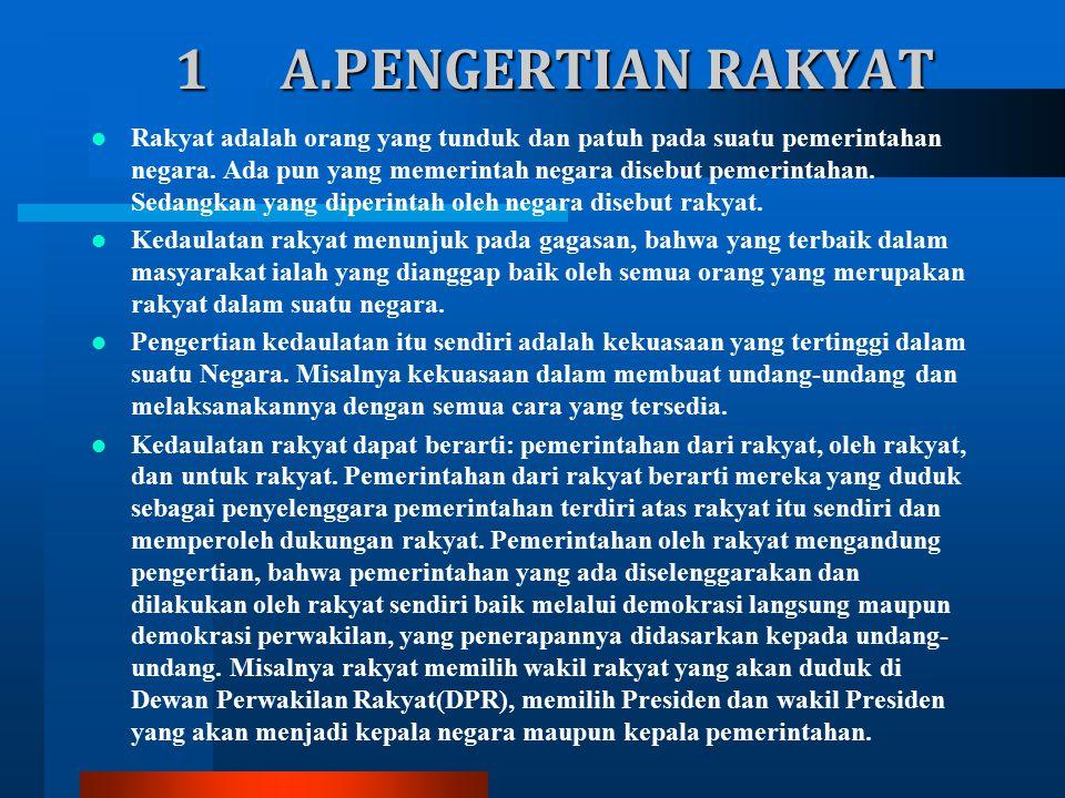 1 A.PENGERTIAN RAKYAT