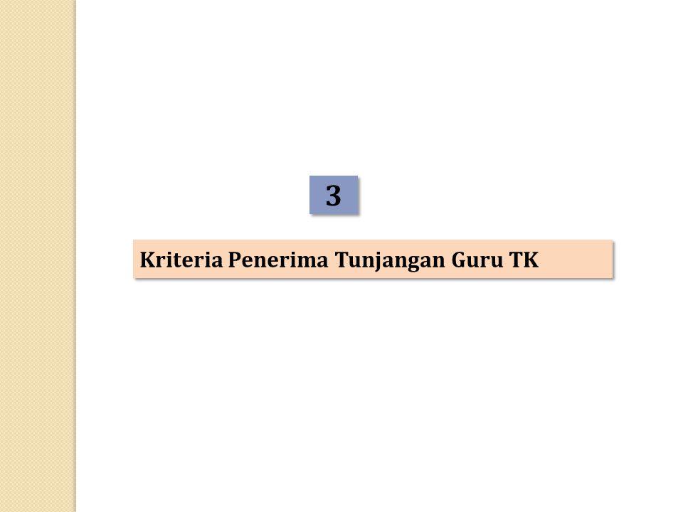 3 Kriteria Penerima Tunjangan Guru TK