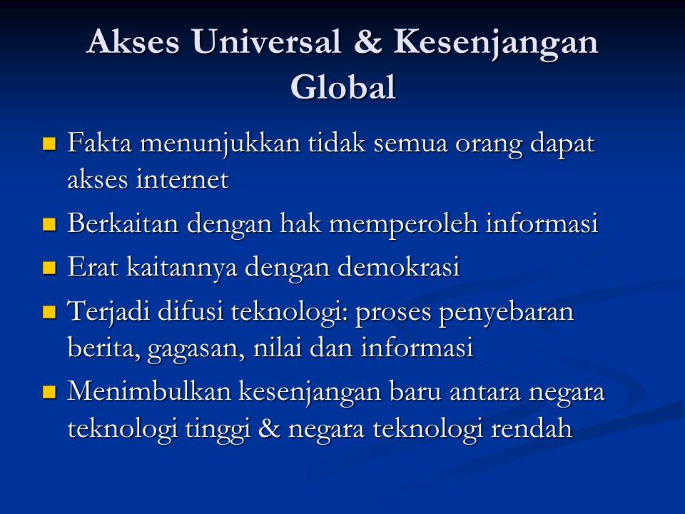 Akses Universal & Kesenjangan Global