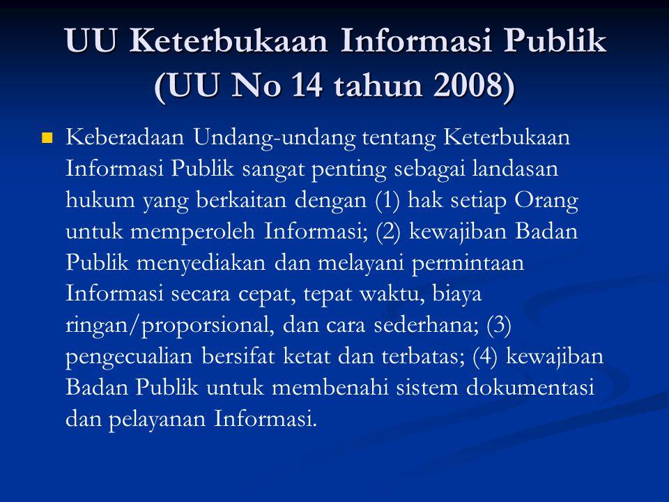 UU Keterbukaan Informasi Publik (UU No 14 tahun 2008)