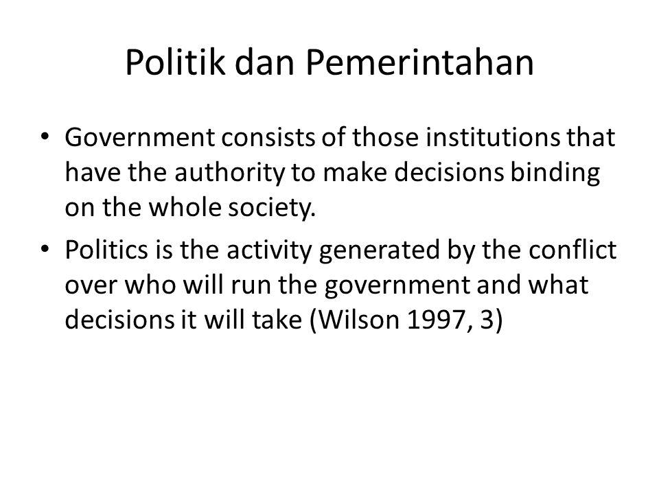 Politik dan Pemerintahan