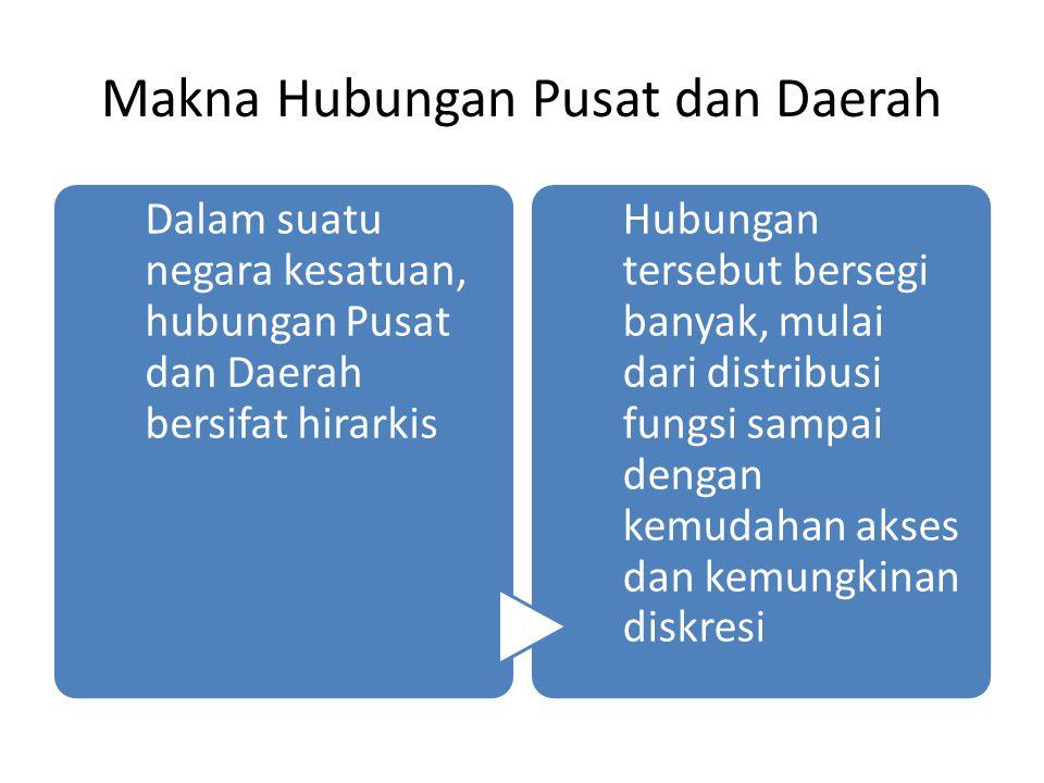 Makna Hubungan Pusat dan Daerah
