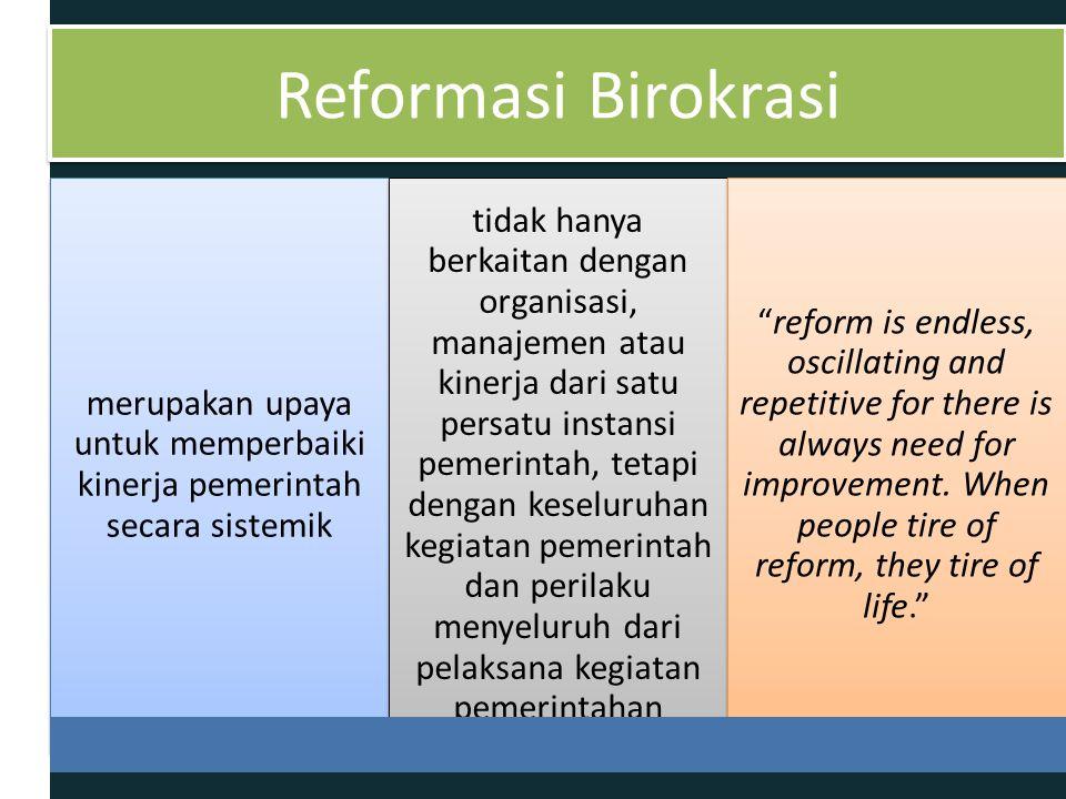 merupakan upaya untuk memperbaiki kinerja pemerintah secara sistemik