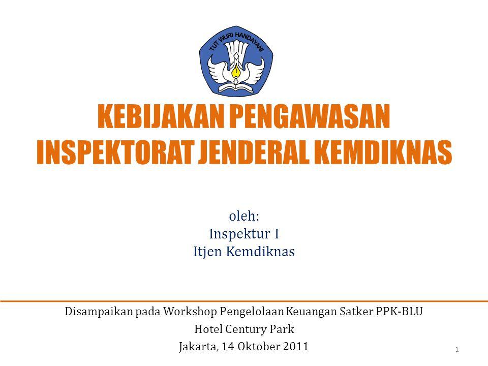 Disampaikan pada Workshop Pengelolaan Keuangan Satker PPK-BLU