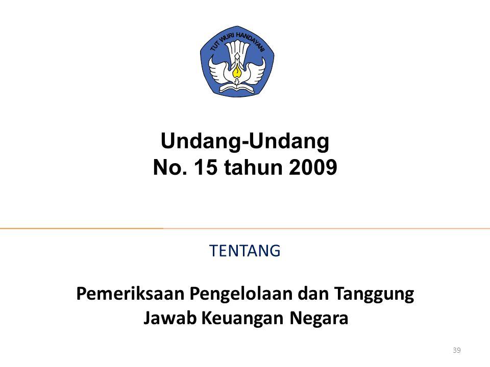 Undang-Undang No. 15 tahun 2009