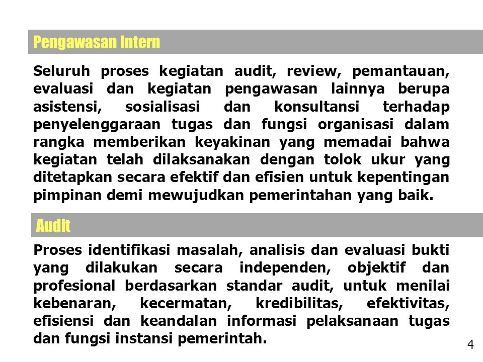 Pengawasan Intern Audit
