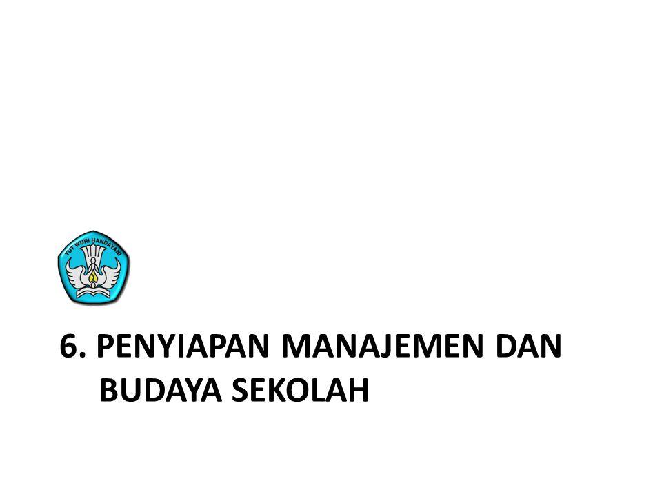 6. Penyiapan manajemen dan BUdaya sekolah