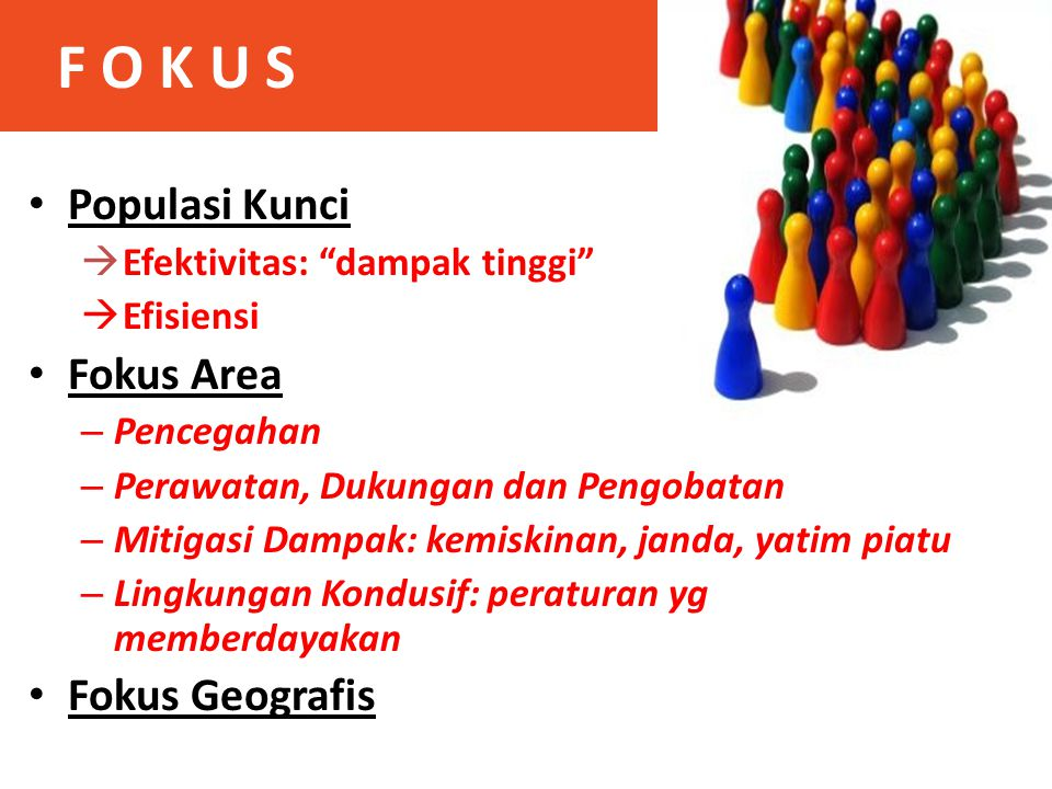 F O K U S Populasi Kunci Fokus Area Fokus Geografis
