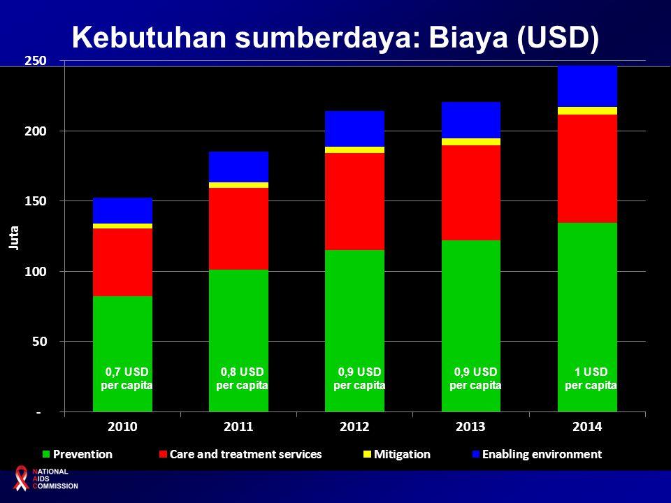 Kebutuhan sumberdaya: Biaya (USD)