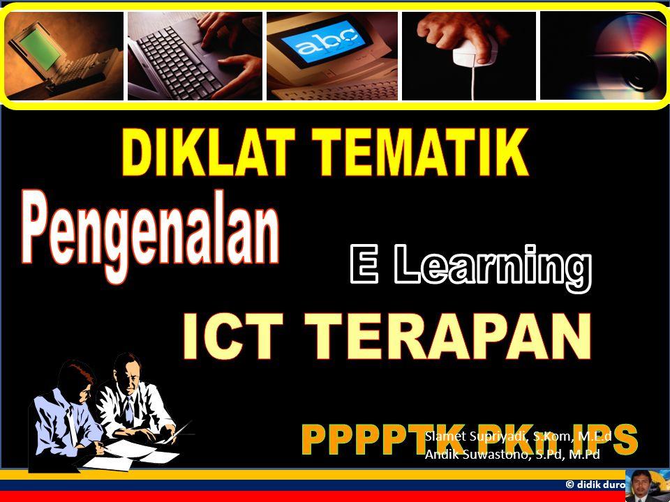 DIKLAT TEMATIK Pengenalan E Learning ICT TERAPAN PPPPTK PKn IPS