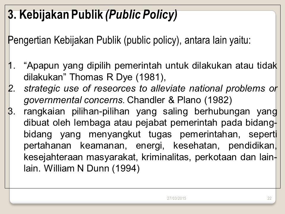 3. Kebijakan Publik (Public Policy)