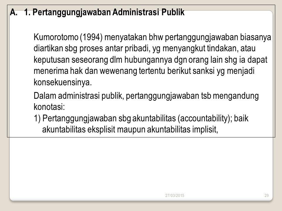 1. Pertanggungjawaban Administrasi Publik