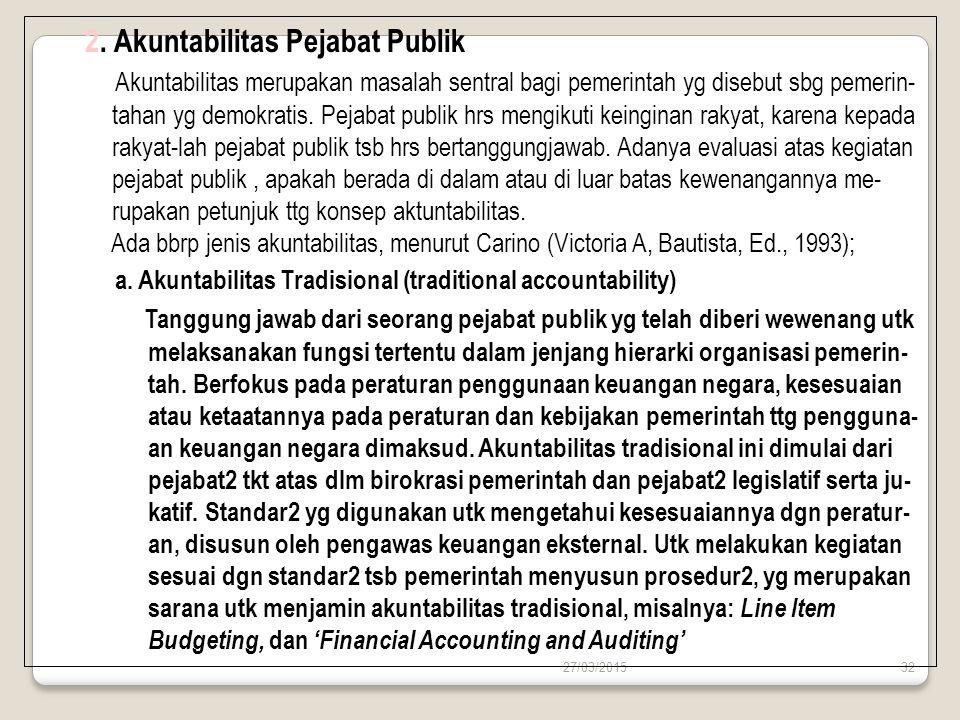2. Akuntabilitas Pejabat Publik