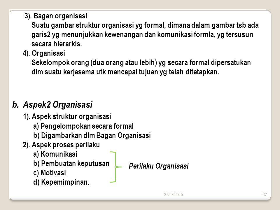 1). Aspek struktur organisasi