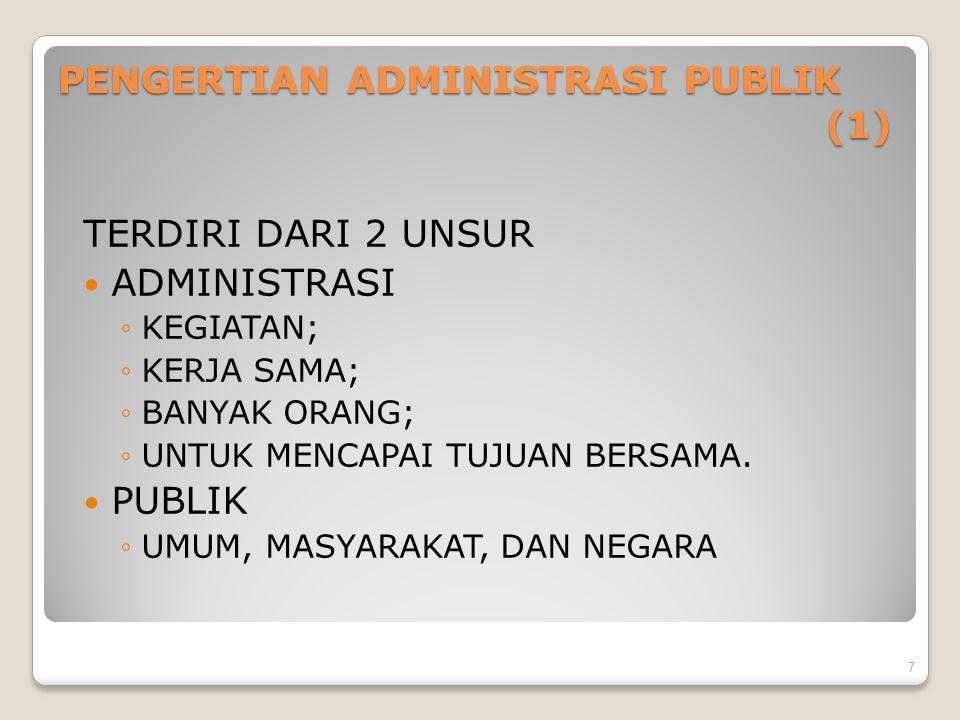 PENGERTIAN ADMINISTRASI PUBLIK (1)