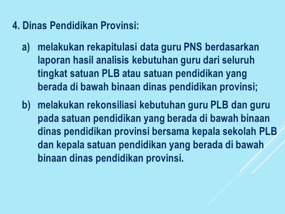 4. Dinas Pendidikan Provinsi:
