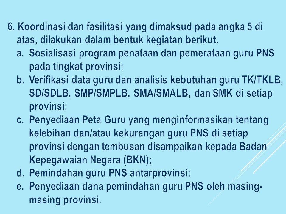 Pemindahan guru PNS antarprovinsi;