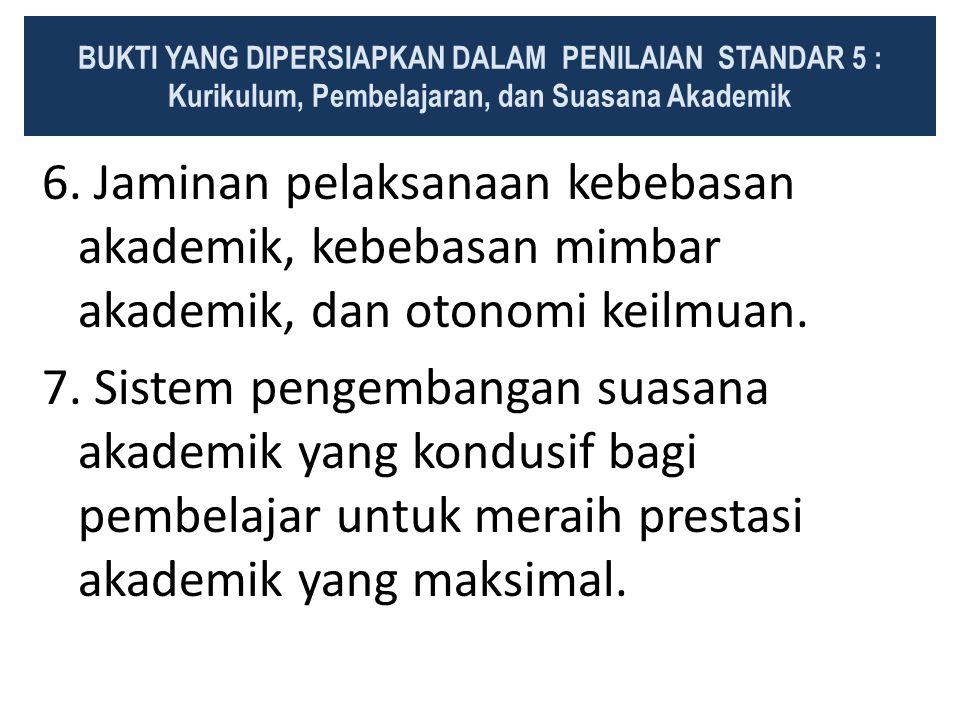 BUKTI YANG DIPERSIAPKAN DALAM PENILAIAN STANDAR 5 :