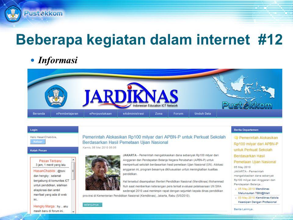 Beberapa kegiatan dalam internet #12