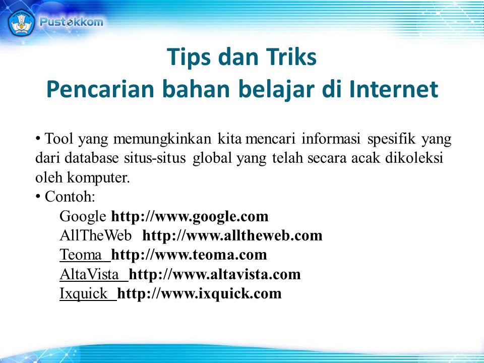 Tips dan Triks Pencarian bahan belajar di Internet