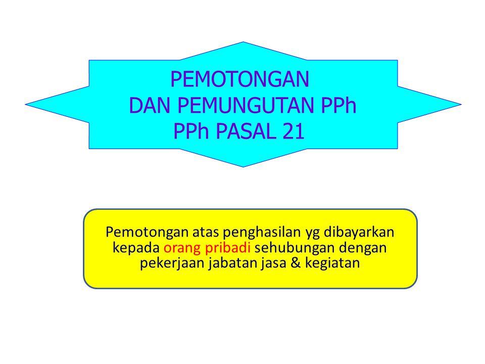 PEMOTONGAN DAN PEMUNGUTAN PPh PPh PASAL 21