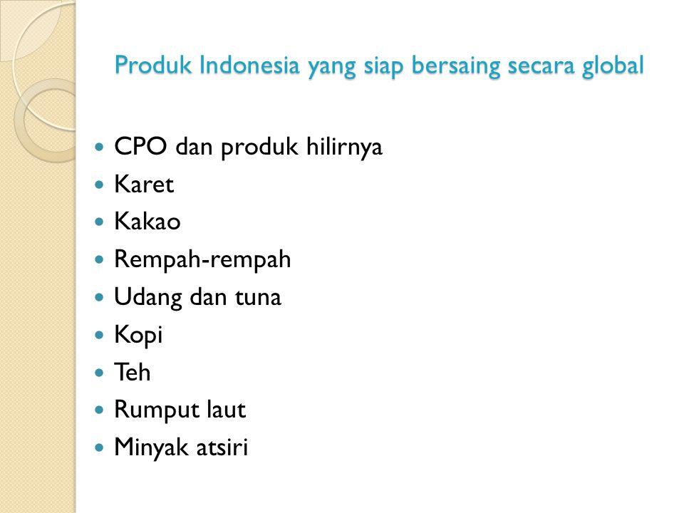 Produk Indonesia yang siap bersaing secara global