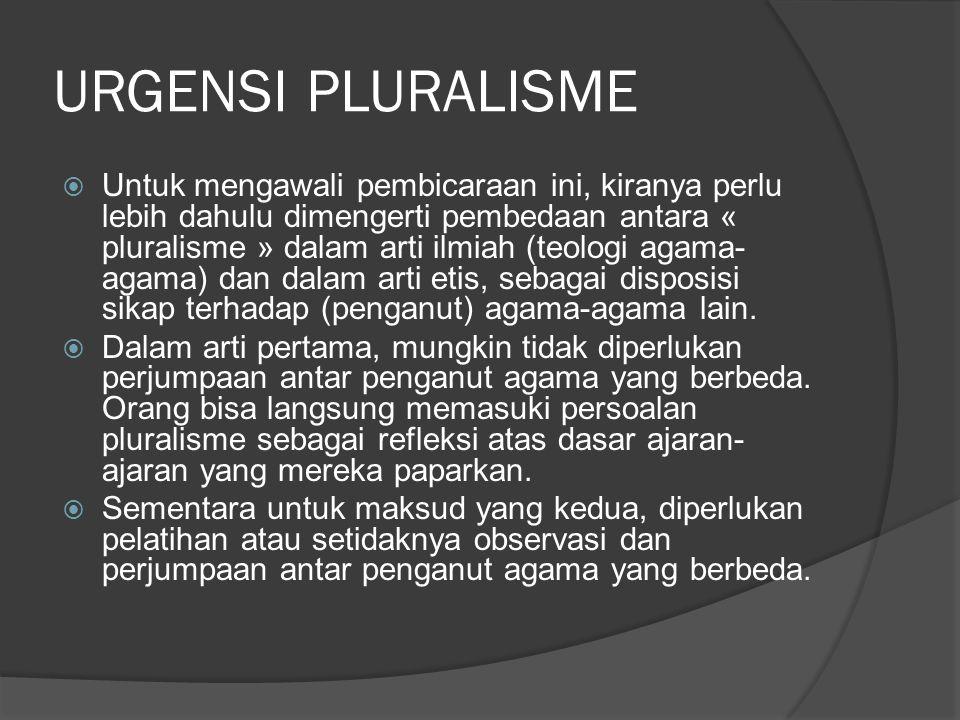 URGENSI PLURALISME