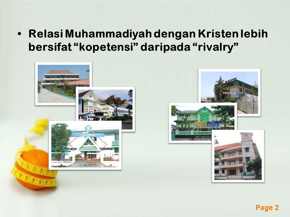 Relasi Muhammadiyah dengan Kristen lebih bersifat kopetensi daripada rivalry