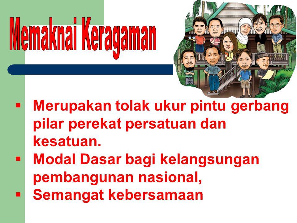 Modal Dasar bagi kelangsungan pembangunan nasional,