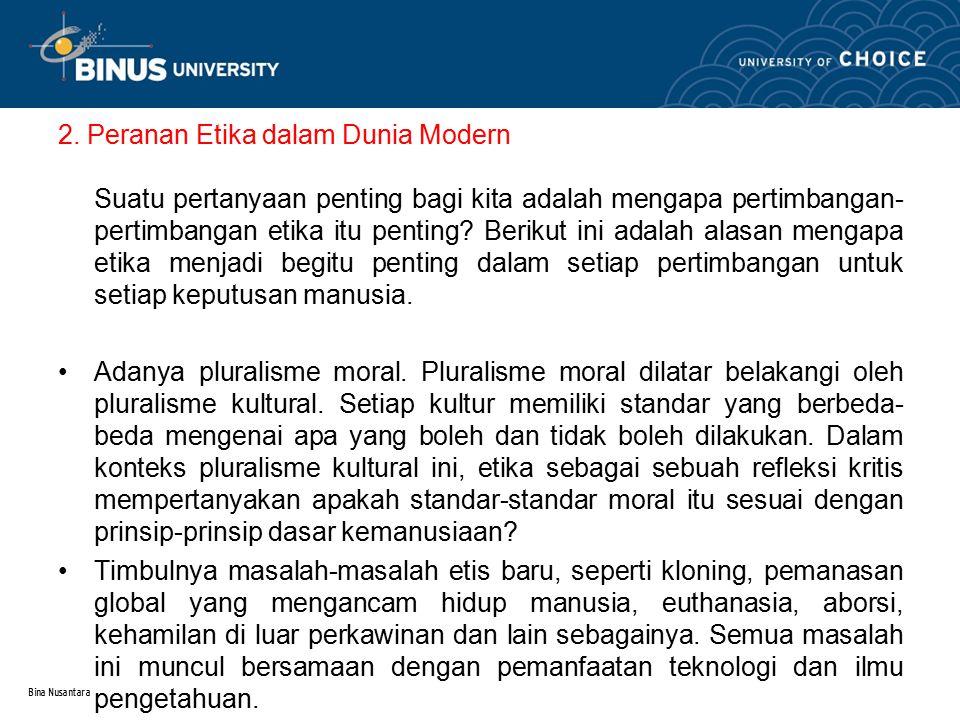 2. Peranan Etika dalam Dunia Modern