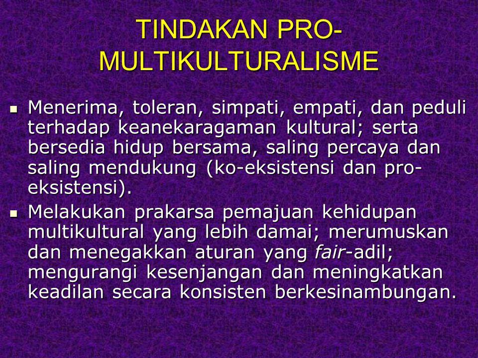 TINDAKAN PRO-MULTIKULTURALISME