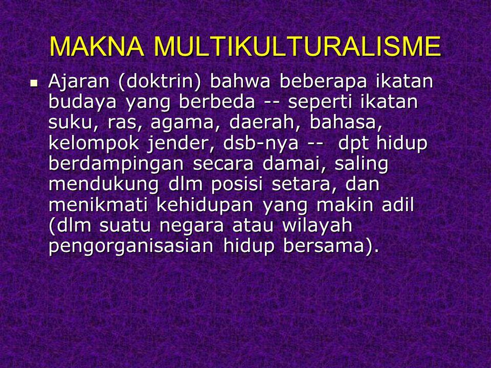 MAKNA MULTIKULTURALISME