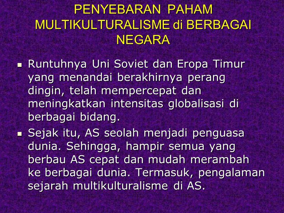 PENYEBARAN PAHAM MULTIKULTURALISME di BERBAGAI NEGARA