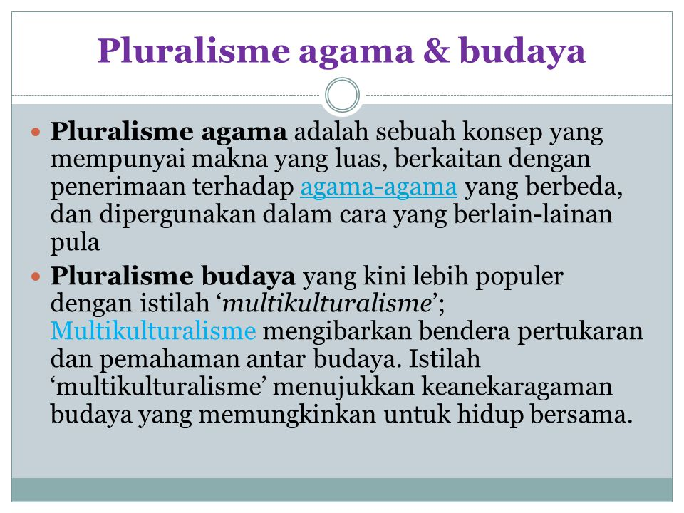 Pluralisme agama & budaya