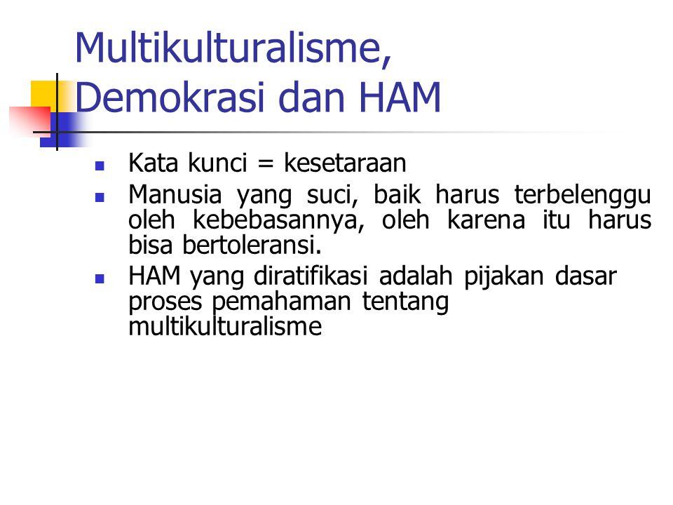 Multikulturalisme, Demokrasi dan HAM