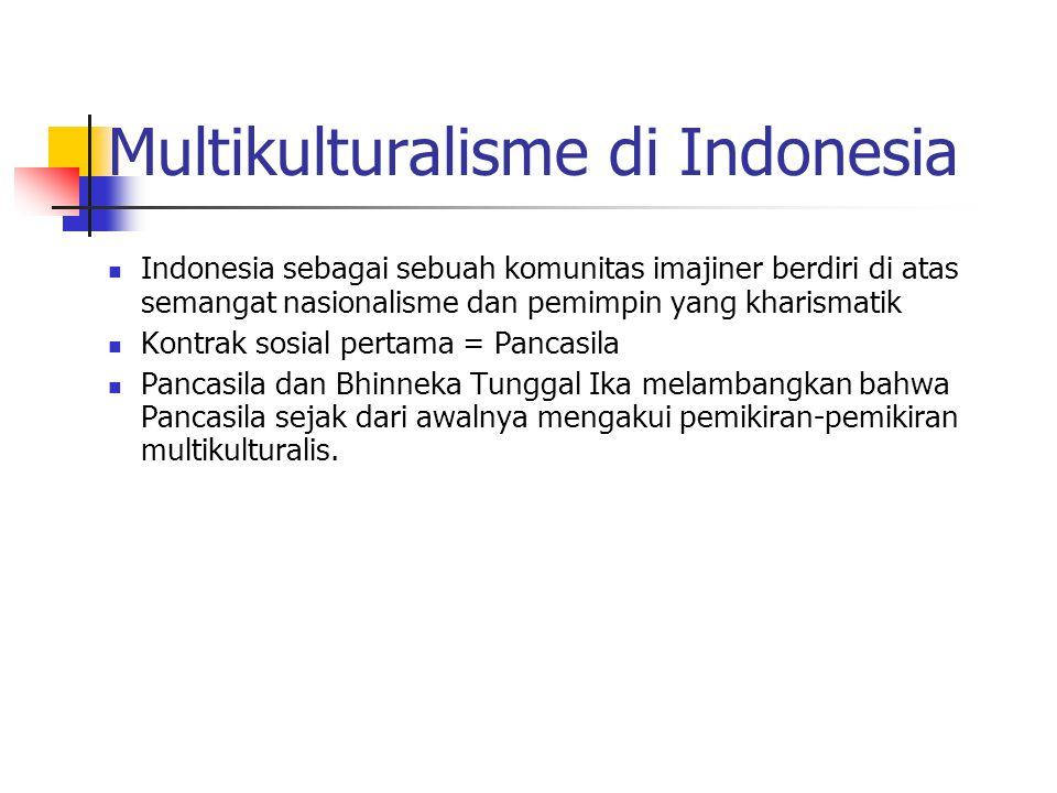 Multikulturalisme di Indonesia