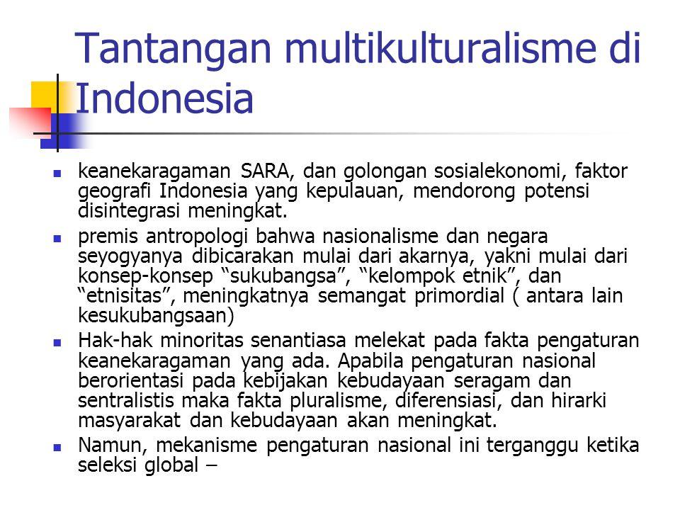 Tantangan multikulturalisme di Indonesia