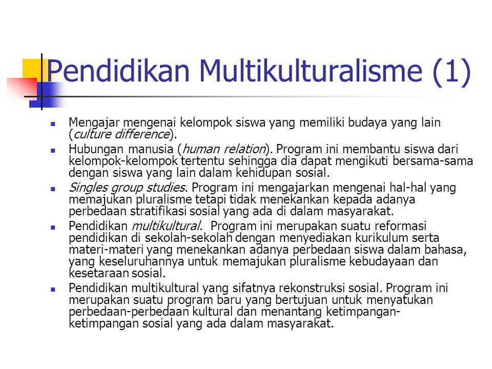 Pendidikan Multikulturalisme (1)