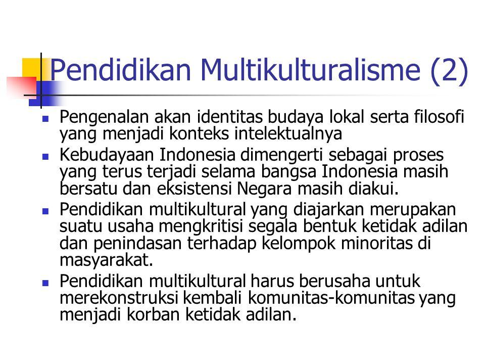 Pendidikan Multikulturalisme (2)