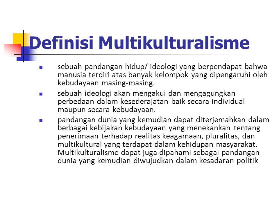 Definisi Multikulturalisme