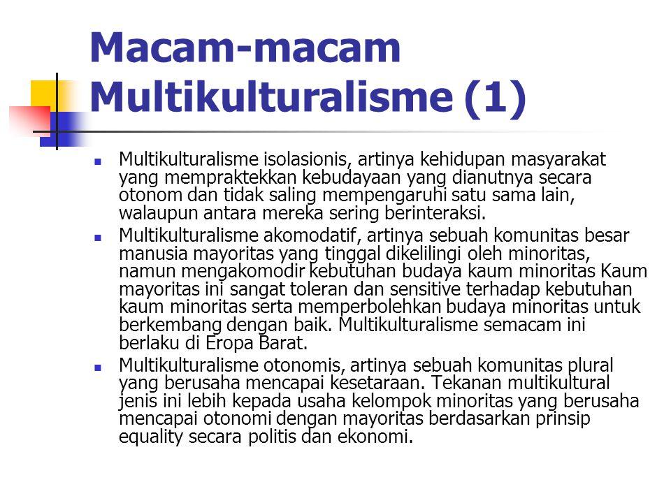 Macam-macam Multikulturalisme (1)