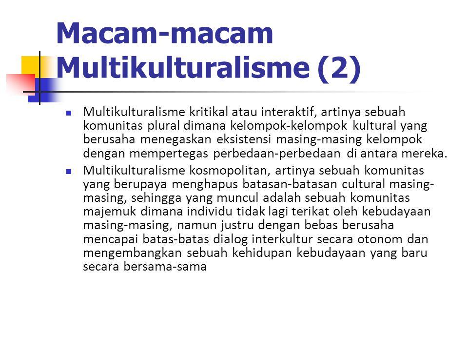 Macam-macam Multikulturalisme (2)