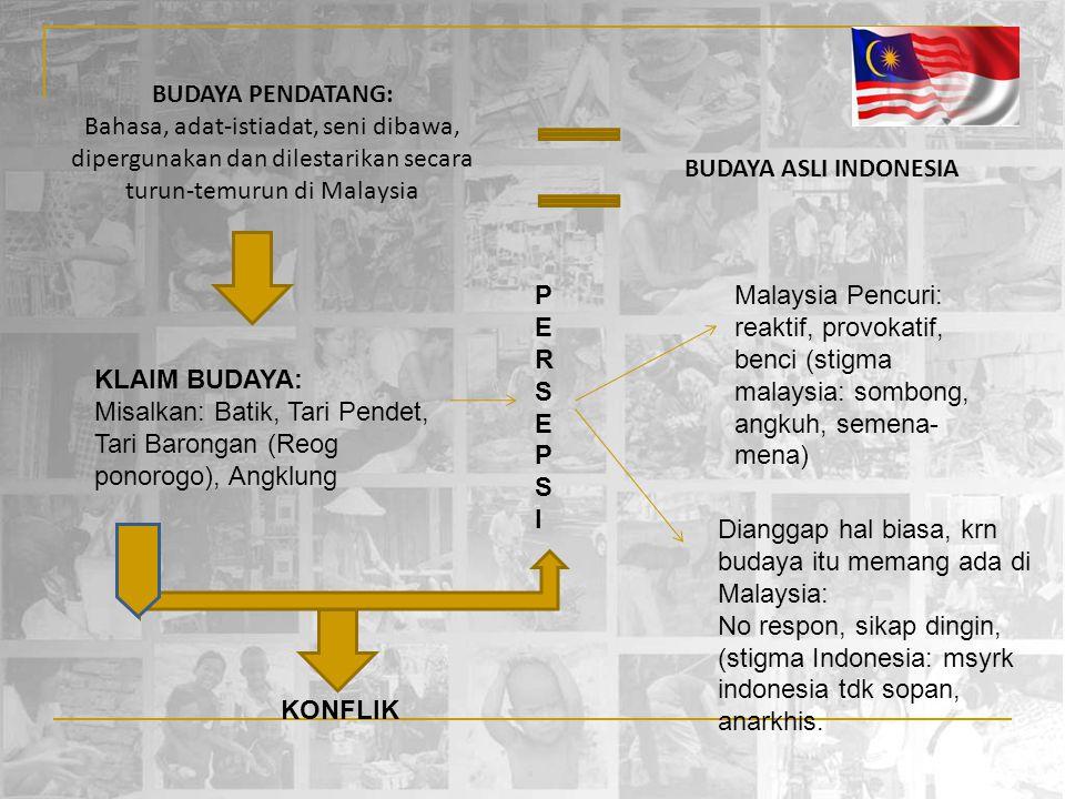 BUDAYA PENDATANG: Bahasa, adat-istiadat, seni dibawa, dipergunakan dan dilestarikan secara turun-temurun di Malaysia.
