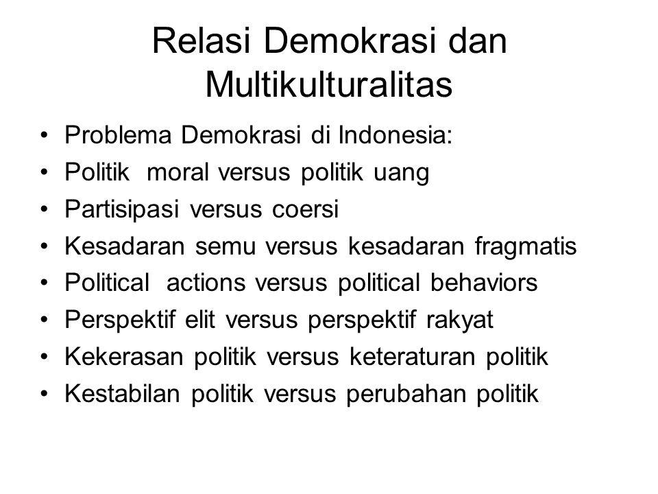 Relasi Demokrasi dan Multikulturalitas