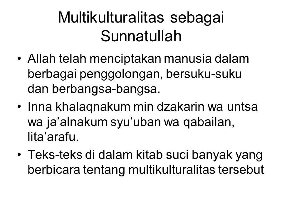 Multikulturalitas sebagai Sunnatullah