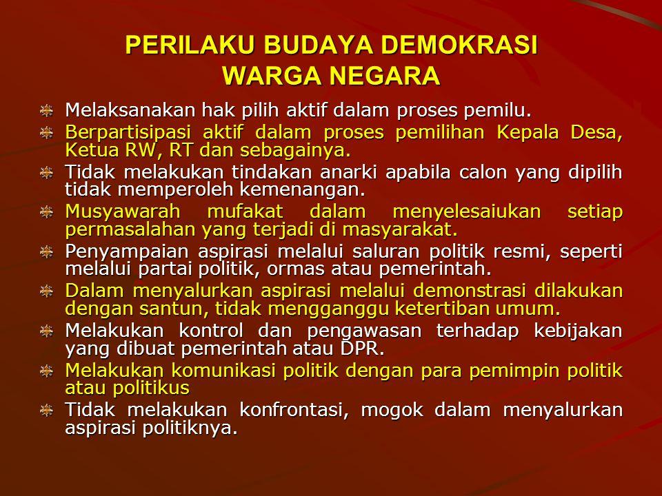 PERILAKU BUDAYA DEMOKRASI WARGA NEGARA